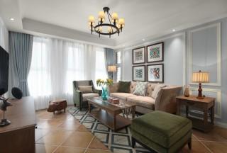 为了126㎡的两居室更有家的感觉,我选择美式清新风-绿城小区126平米二居美式装修案例