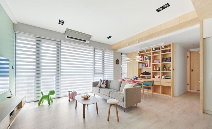 掌握家具比例,打造媲美民宿的客厅