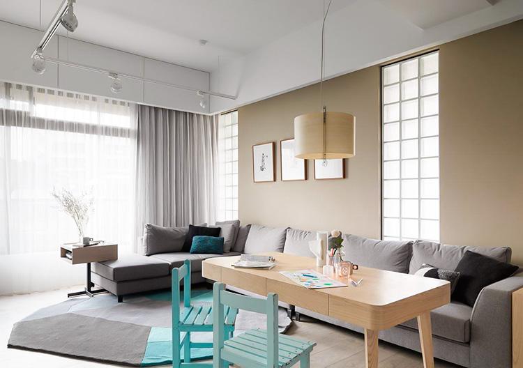 移动式家具打造客厅弹性大空间
