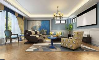 575㎡美式,优雅简练的生活奥义-天茂湖小区575平米别墅美式装修案例