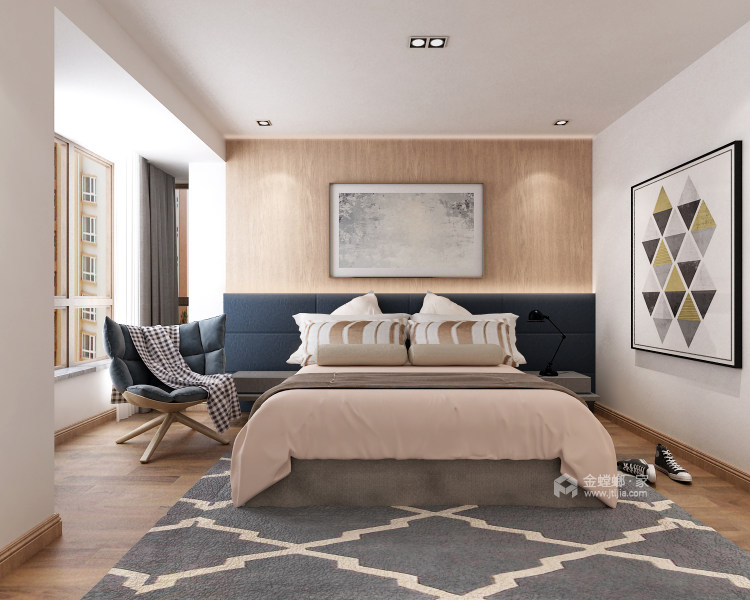单身公寓如何打造简约温馨日式风?-空间效果图