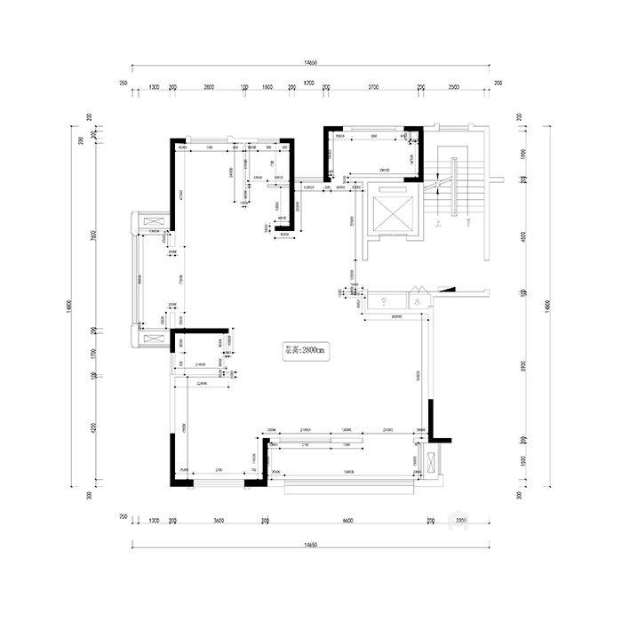 华美而精致的三口之家-原始结构图