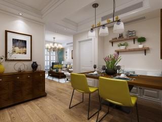 87平美式,温馨的四口之家-凰家御庭小区87平米2室美式装修案例