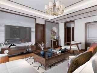 128平新中式空间透亮,温润如玉,沉稳之美!-滨河花园小区128平米3室新中式装修案例