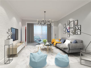 119平北欧三居室,朴素白+暖色调总能让人温馨甜蜜-岳麓欧城小区119平米3室北欧装修案例