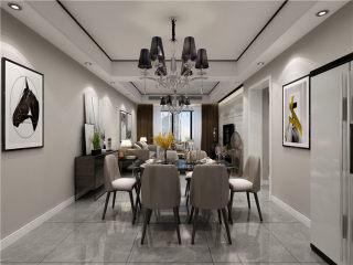 100平米现代,崇尚质感与复古韵味-鹤州印象小区100平米3室现代装修案例