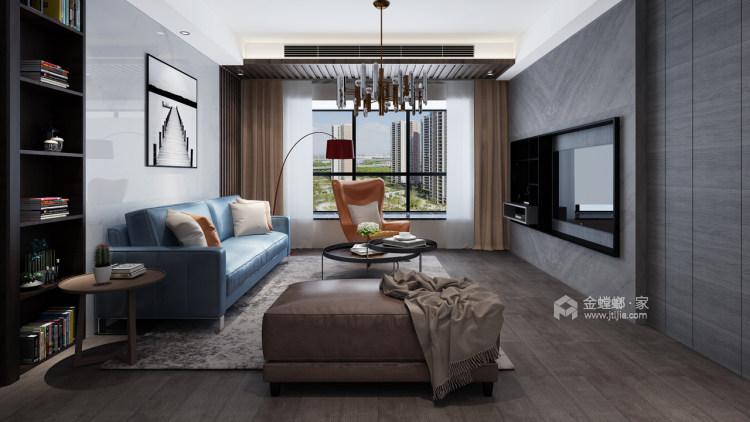 羡慕闺蜜的新家,147㎡现代简约风,客厅敞亮又气派!-客厅效果图及设计说明
