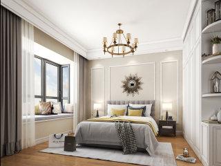 简洁淡雅的美式风-荣盛华府小区172平米5室美式装修案例