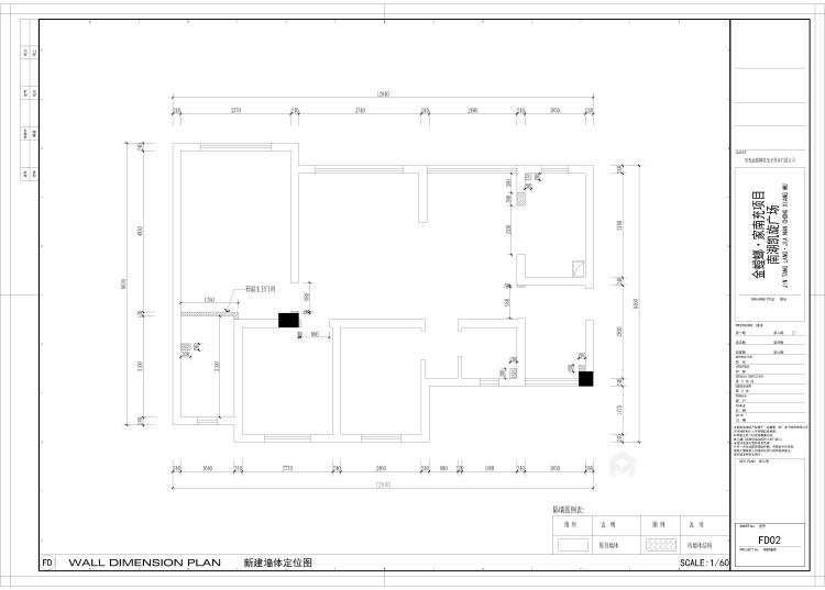100平小三室这样改造空间变大-平面布置图