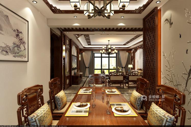 177平纯中式风-餐厅效果图及设计说明