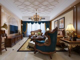 180平复式美宅,美式风带你领略不一样的异域风情-滨江一号小区180平米跃层/复式美式装修案例