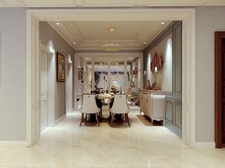 美式风复式美宅,让你如亲临美剧一般-泰和花园小区206平米跃层/复式美式装修案例