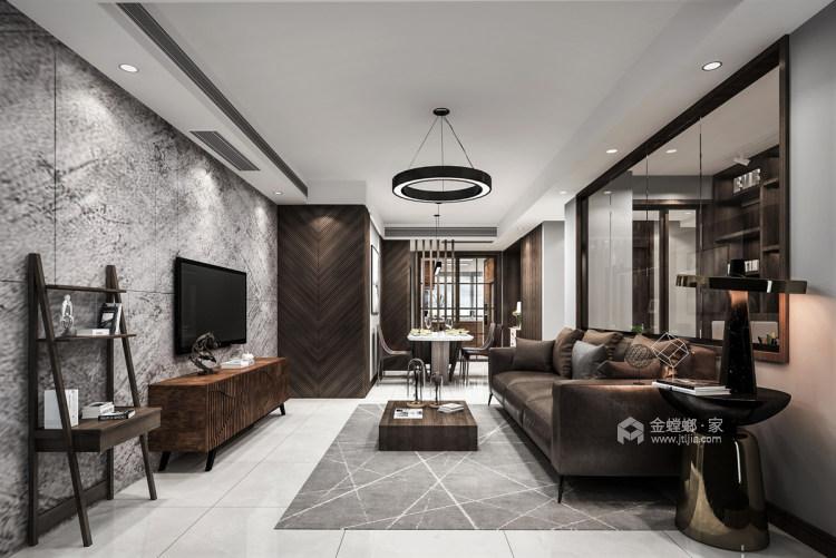 120平现代混搭之美-客厅效果图及设计说明