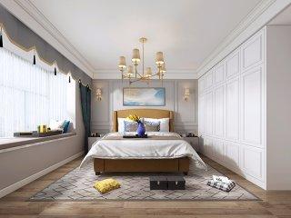 92平奢华美式风-江城国际瑞华苑小区92平米2室美式装修案例