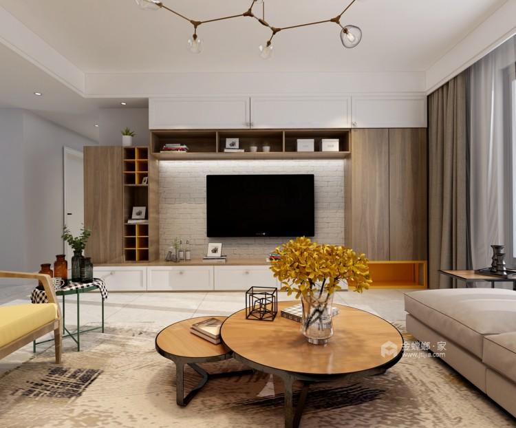 这一抹惊艳的黄色-客厅效果图及设计说明