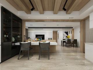 原木现代风,这才是家的味道!-兴安华庭小区118平米3室现代装修案例