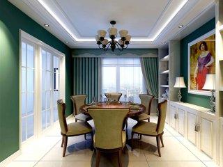 自由随意,简洁怀旧-碧龙江畔小区195平米2室美式装修案例
