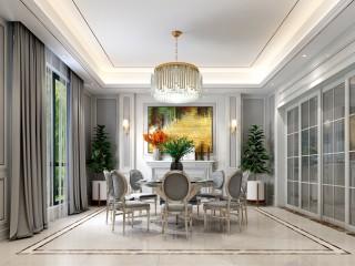美式轻奢丨先低调中彰显尊贵-枫叶新都小区450平米别墅美式装修案例