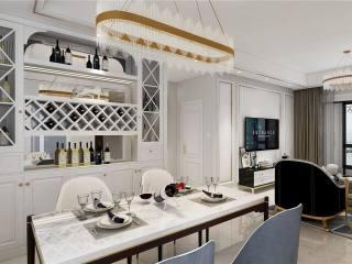 年轻人最爱的轻奢风 118平米现代3居室-九龙仓年华里小区118平米3室现代装修案例