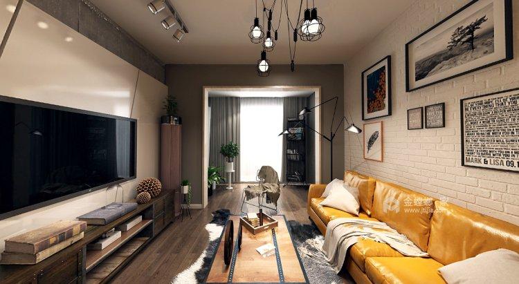 干净利落的风格,展现出不同空间的不同性格的美-客厅效果图及设计说明