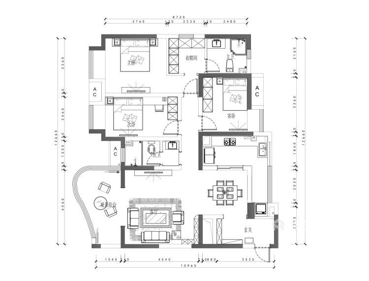 山水水墨入墙来,美轮美奂把家居-平面设计图及设计说明
