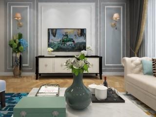 美式也可以很清新,快看这套236㎡大复式-花田墅小区236平米跃层/复式美式装修案例