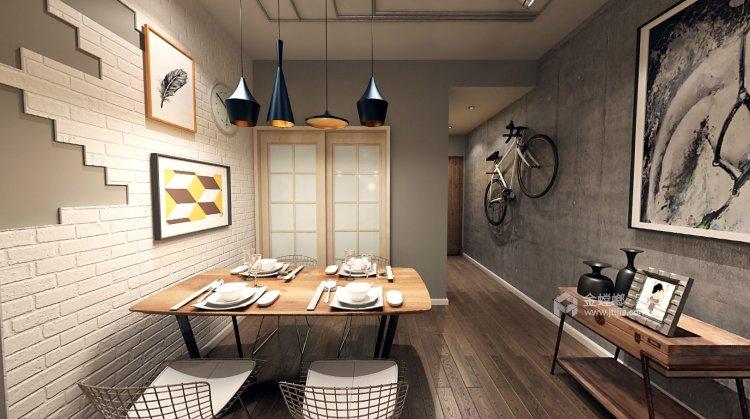干净利落的风格,展现出不同空间的不同性格的美-餐厅效果图及设计说明