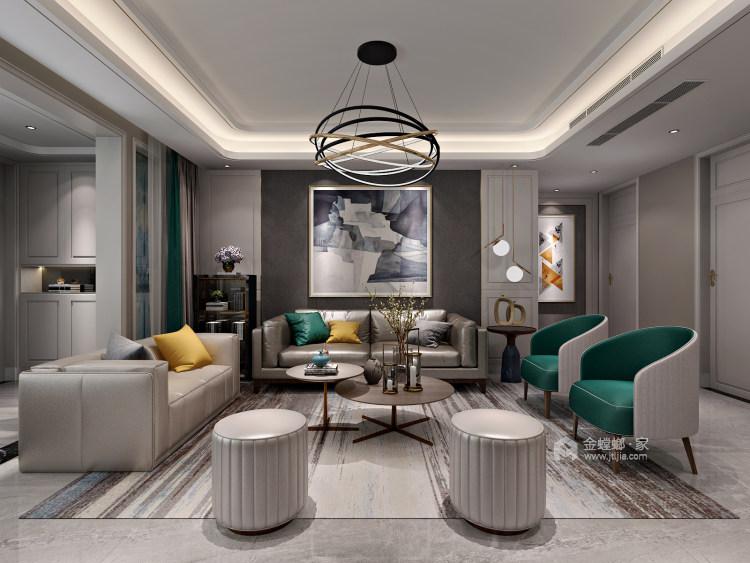 无过多的装饰、推崇科学合理的构造工艺-客厅效果图及设计说明