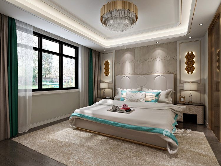 无过多的装饰、推崇科学合理的构造工艺-卧室效果图及设计说明