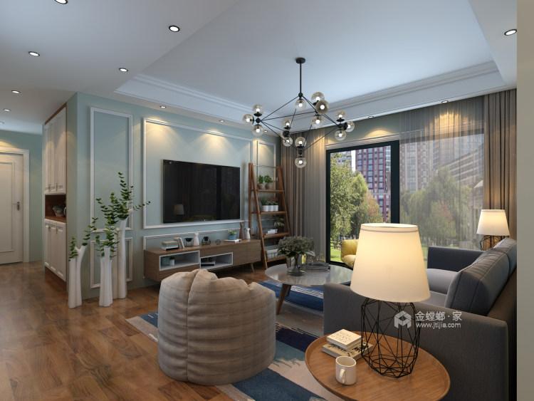 现代生活的悠闲与舒适-客厅效果图及设计说明