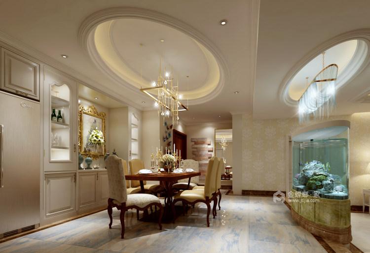 现代轻奢与时尚的结合-餐厅效果图及设计说明