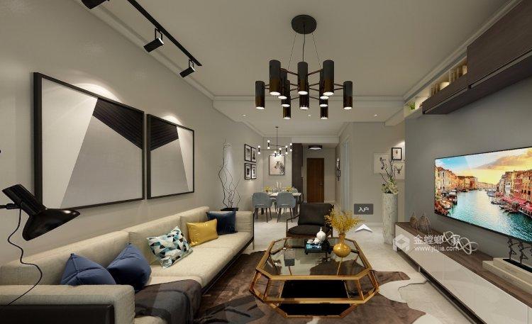 整体家私与风格的感觉延续-客厅效果图及设计说明
