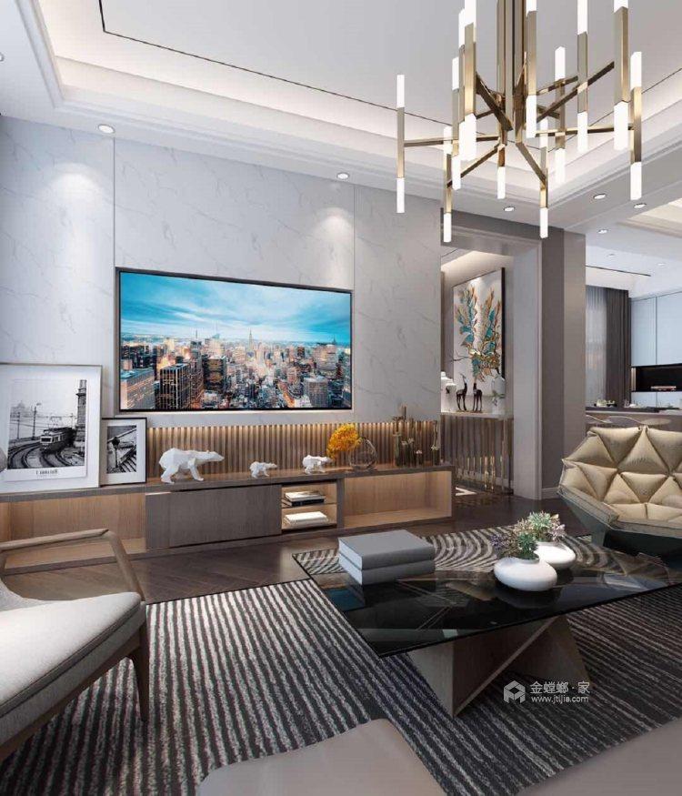 多彩设计,演绎时尚之美-客厅效果图及设计说明