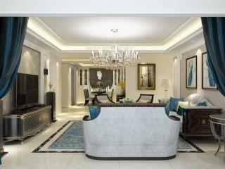 自在舒适的177平美式风格美满生活空间