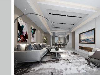 210平现代风 感受家的温馨-大唐金城小区210平米5室现代装修案例