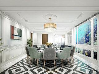 330平大宅 感受法式轻奢空间-南山湖一号小区330平米5室欧式装修案例