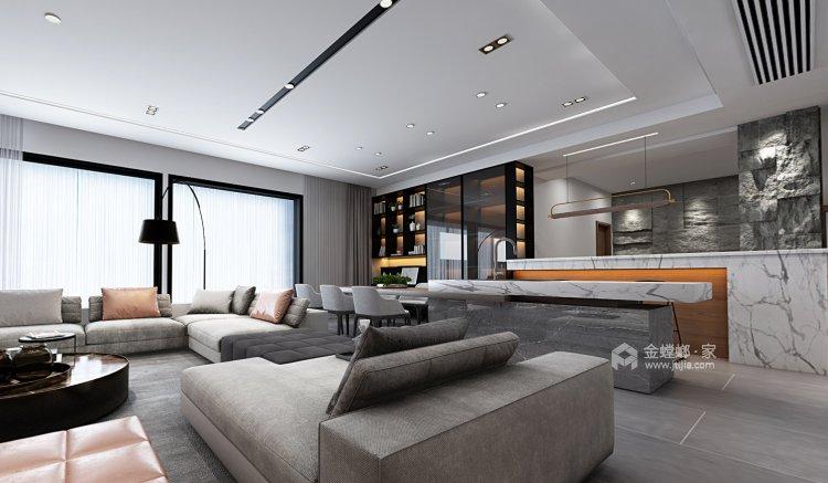 蓝山湾现代极简,低调奢华风度尽显-餐厅效果图及设计说明