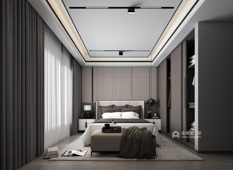 简约线条勾勒大气灰调现代风-卧室效果图及设计说明