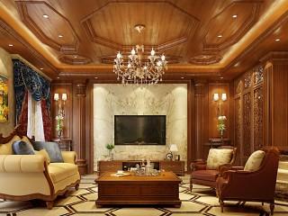复古浪漫的480平美式别墅住宅,享受高品质生活-清华大溪地小区480平米别墅美式装修案例
