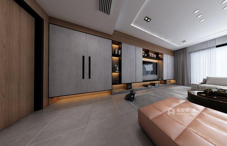 蓝山湾现代极简,低调奢华风度尽显-客厅效果图及设计说明