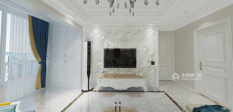 简欧风格-客厅效果图及设计说明