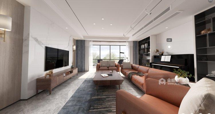 248㎡三代同堂的现代风案例-客厅效果图及设计说明