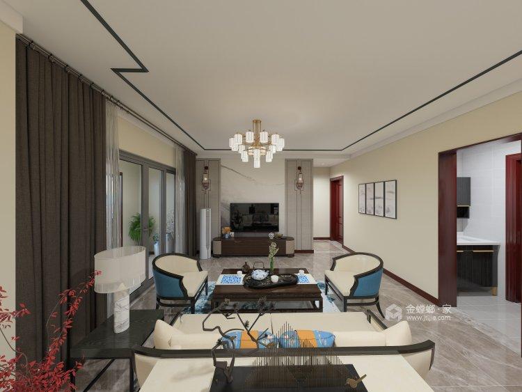 韵味中式,勾起心中的古风情丝-客厅效果图及设计说明