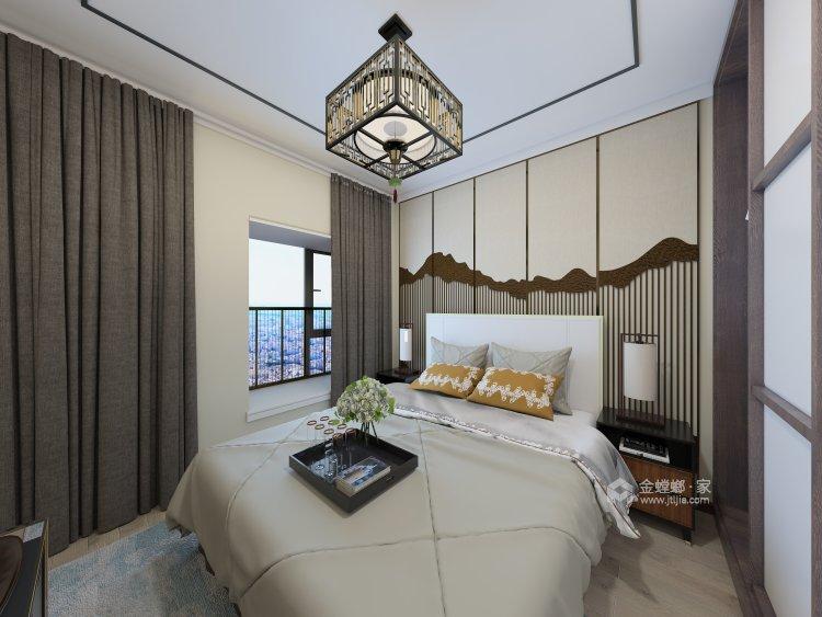 韵味中式,勾起心中的古风情丝-卧室效果图及设计说明