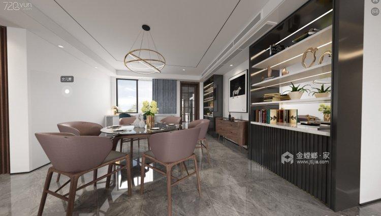 248㎡三代同堂的现代风案例-餐厅效果图及设计说明