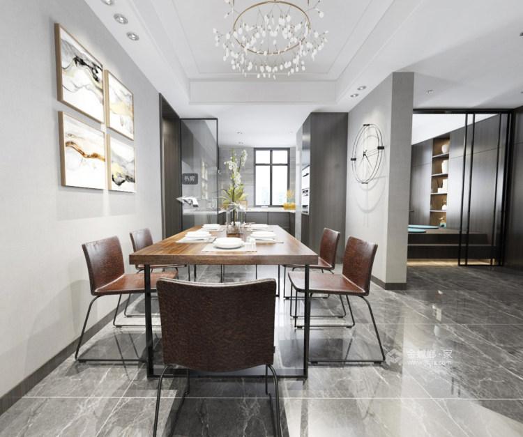 清新素雅现代风-餐厅效果图及设计说明