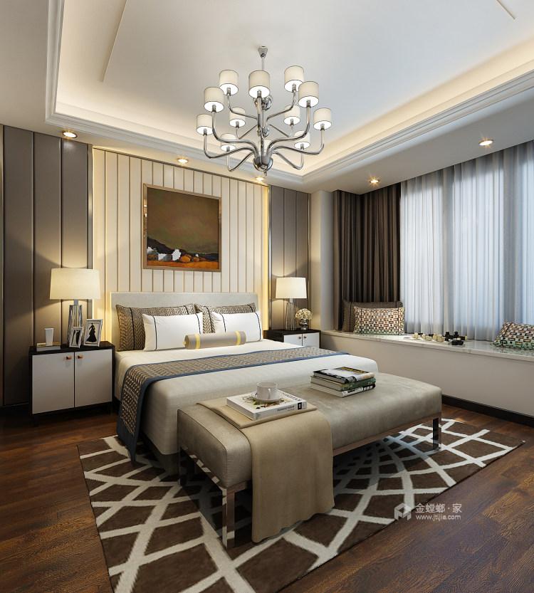 148㎡现代轻奢风的三口之家-卧室效果图及设计说明