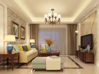 160平米美式轻奢的品质生活-九里香缇小区160平米跃层/复式美式装修案例