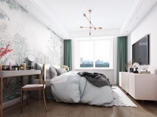 润花园83㎡美式两居-润花园小区83平米2室美式装修案例
