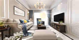 128平米白色调的优雅美式风格-枫丹壹号小区128平米3室美式装修案例